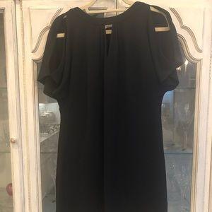 White House Black Market Keyhole ShortSleeve Dress